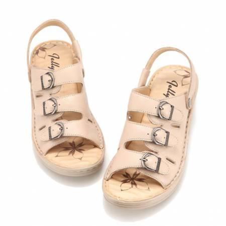 [Jellyko]舒适款女士凉鞋米色(日本知名品牌)