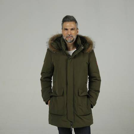 加拿大品牌SainDyfan三防95%白鹅绒服(厚款)·绿色