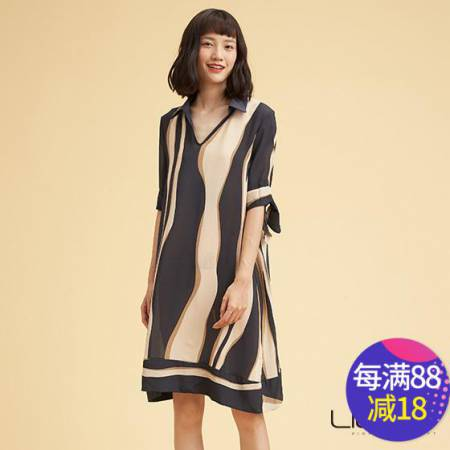 尚街 真丝连衣裙两件套·黑色