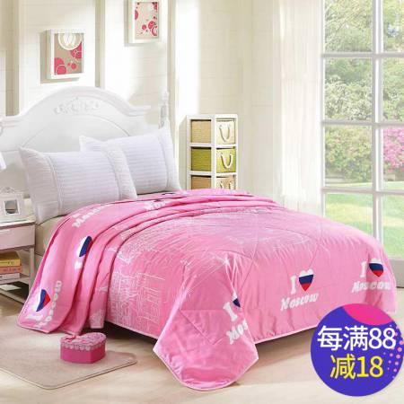 唯眠纺 超柔空调被夏凉被180*200CM 时尚夏被-粉·水粉