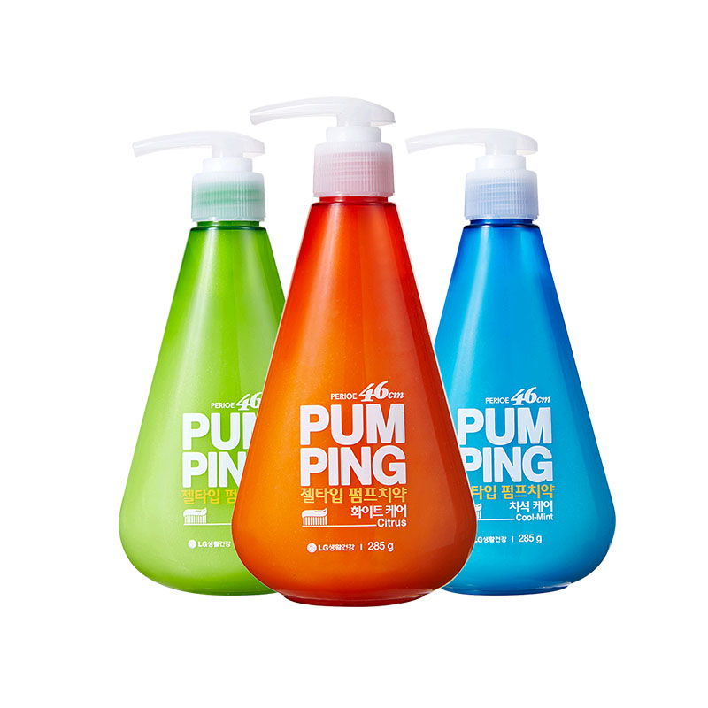LG 倍瑞傲派缤牙膏·3瓶·冰蓝薄荷+萌绿清新+沁橙亮妍