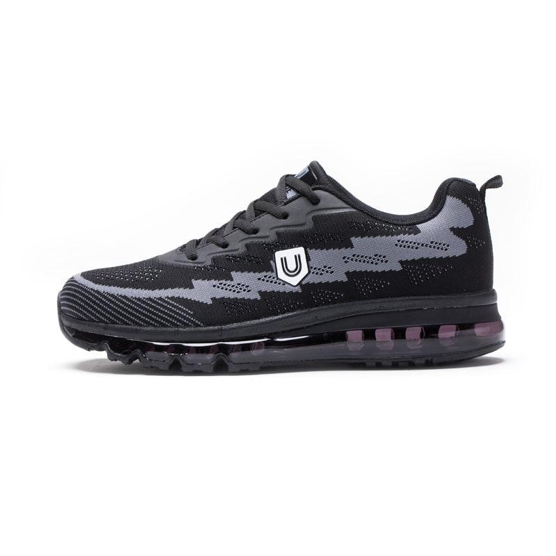 美国品牌u.shoe优树全脚掌气垫运动休闲运动鞋·黑灰