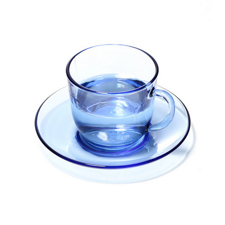 DURALEX 欧式4杯4碟咖啡杯碟·8件套·浅蓝色