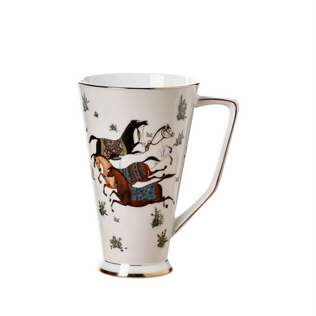 奇居良品艾玛骨瓷带把手马克杯/水杯/茶杯/咖啡杯