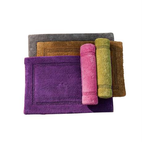 奇居良品 浴室地垫 哈克萨素色棉质地垫