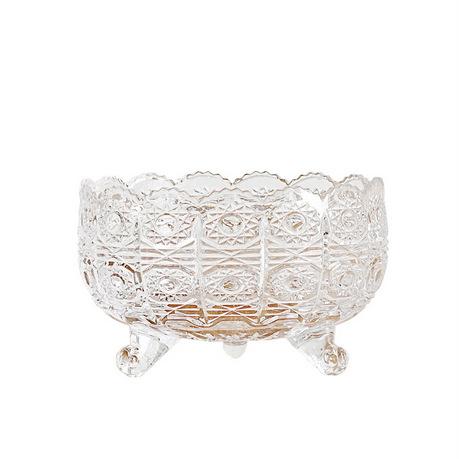 奇居良品 米娜水晶玻璃三角碗状圆形果盘