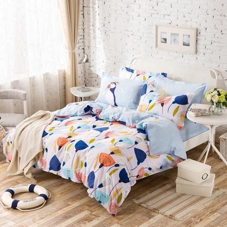 【一梦】纯棉印花活性四件套  荷塘月色 200*230cm