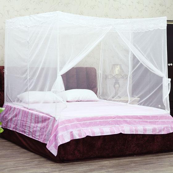 爱丽舍三开门 方顶 双人加大 折叠蚊帐
