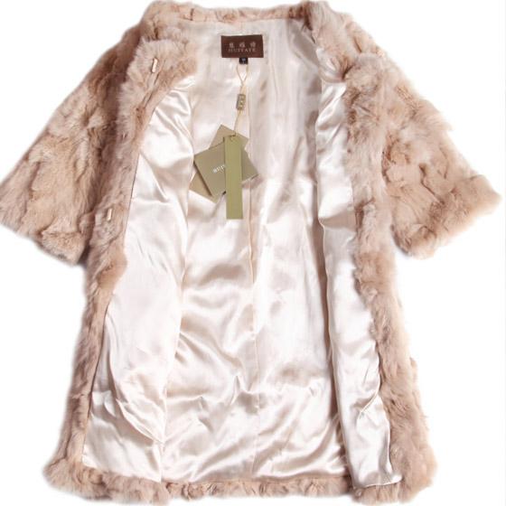 慧雅特兔毛皮草外套 驼色高清图片 优品惠 更高品质的视频购物
