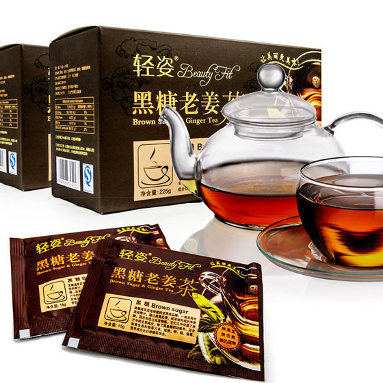 轻姿黑糖老姜茶5+1特惠组 褐色