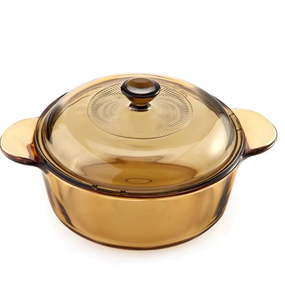 美国康宁晶彩透明锅盖