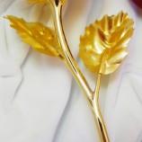 海普伊珊超大号24k千足金箔玫瑰花(仅四川仓有货) 黄金色