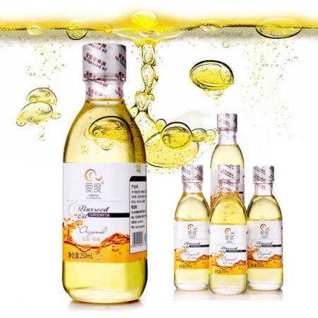 爱度提纯冷榨亚麻籽油250ml*4瓶