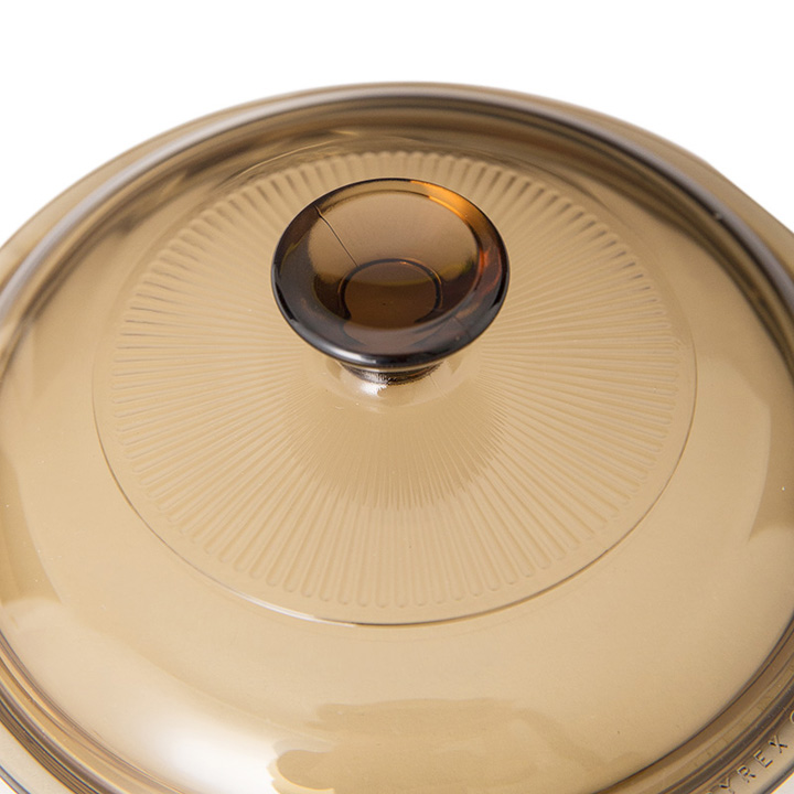 [康宁VISIONS]0.8L晶彩透明玻璃汤锅 棕色