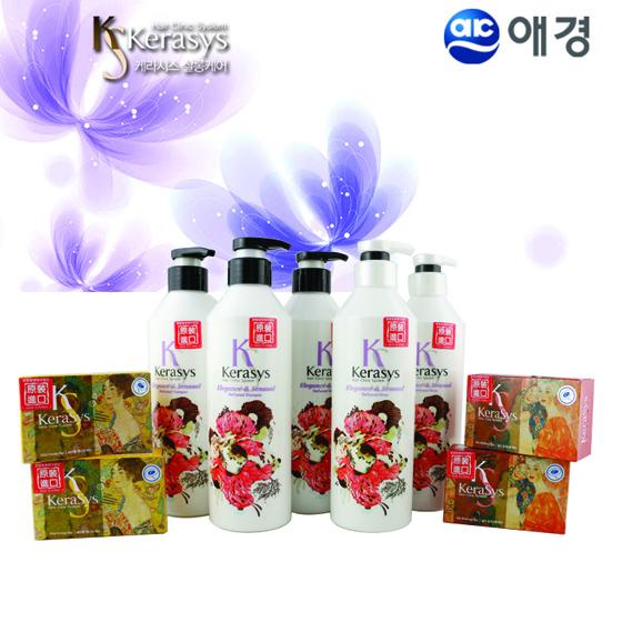 [爱敬AEKYUNG] 花香优雅香氛洗护发套装(紫罗兰香) 紫色