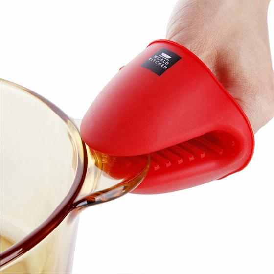 [美国康宁]专用硅胶手套两件套 红色