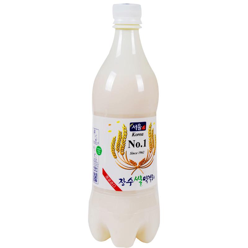 韩国进口乐天长寿马可丽米酒3瓶特惠组 白色