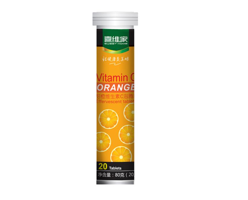 喜维家水果口味维生素C泡腾片6瓶