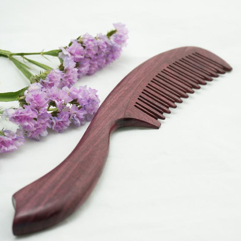 百年许氏精品紫罗兰木梳 紫红色