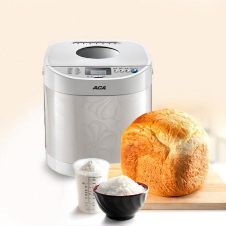 ACA 炫彩白色不锈钢面包机·白色