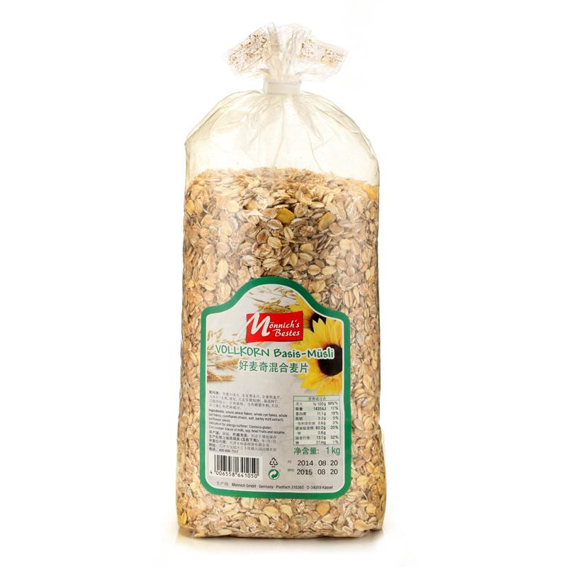 德国进口好麦奇早餐谷物麦片2袋超值组 白色