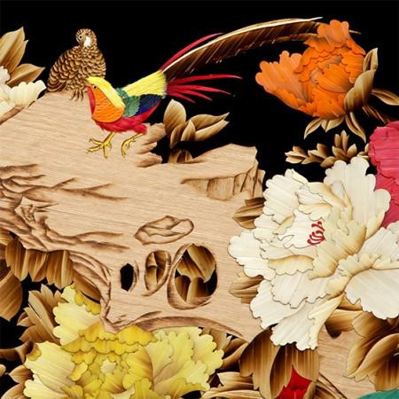 刘永乐大师-原生态纯手工《富贵满堂》植物画臻品 彩色