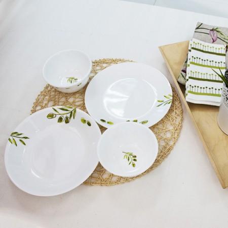 [美国康宁]进口绿茵系列餐具4件(单件约60元) 玻璃材质