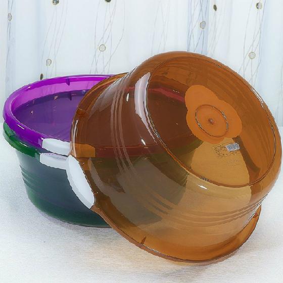 茶花防滑透明盆大中小3件套