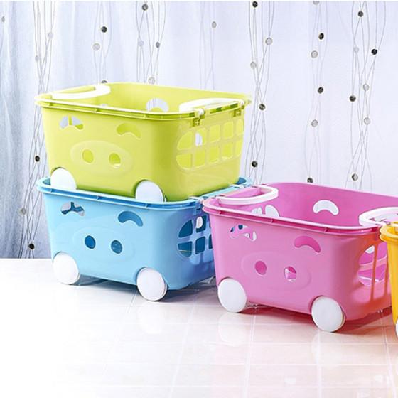 茶花儿童用品储物收纳篮两个装