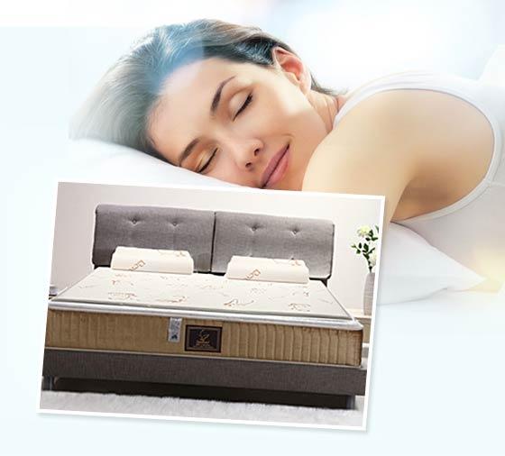 幻知曲比利时进口乳胶床垫1.5米(床垫*1+乳胶枕*2)