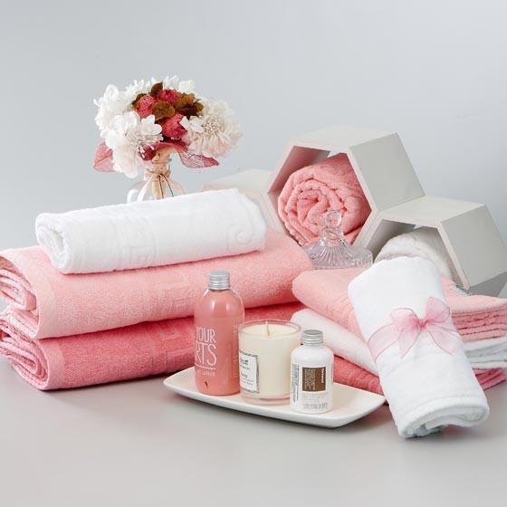 Guy Laroche姬龙雪原装进口毛巾家庭装 粉红色·洗面巾*6*条·浴巾*2*条·手巾*7*条