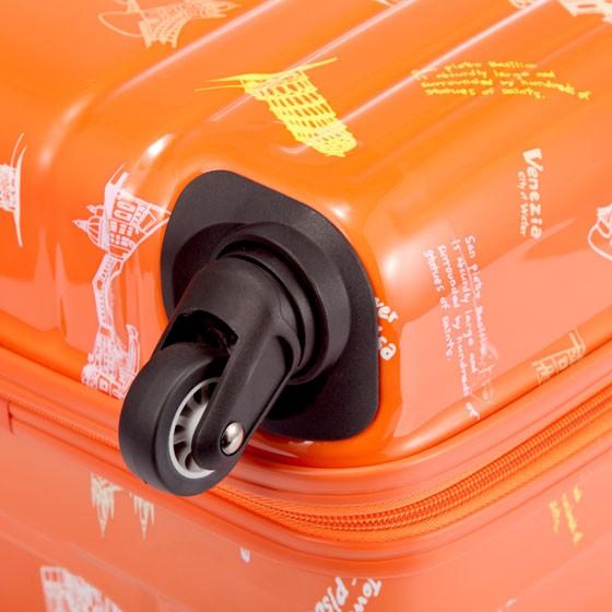 [美旅]欧陆风情印花箱包组(周年纪念版)橘色印花
