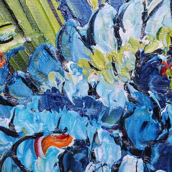 雅工坊 手绘油画-梵高鸢尾花