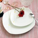 迪奥百合 雏菊骨瓷方盘餐叉9件套装