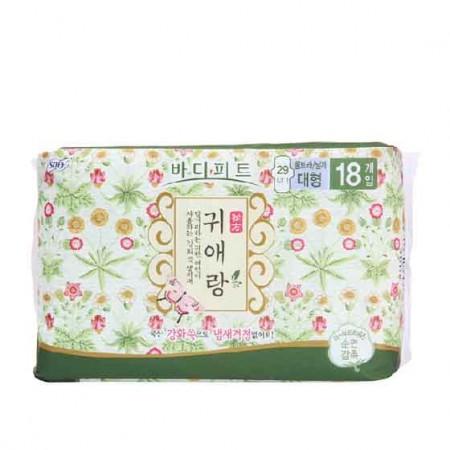 韩国贵爱娘中草药卫生巾 夜用18片/包