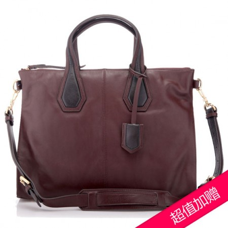 FINNESKER 女式手拎包·深红色