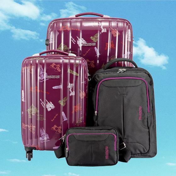 美旅 欧陆风情印花箱包组周年纪念版 紫色印花