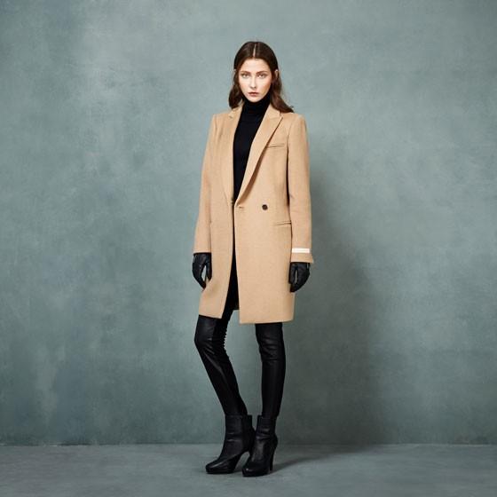 SOWOOL韩版羊绒大衣·米色