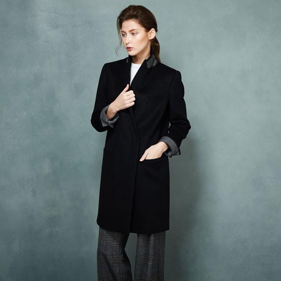 SOWOOL韩版羊绒大衣·黑色