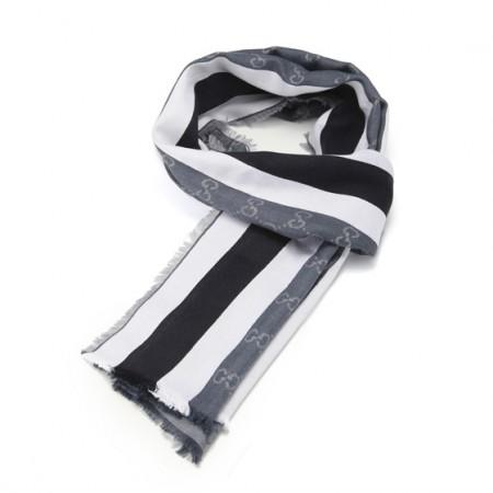 [GUCCI]经典款长围巾 蓝色(70%真丝+30%棉)