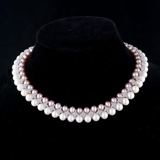 """烨嘉""""星光闪耀""""奢华款珍珠项链"""