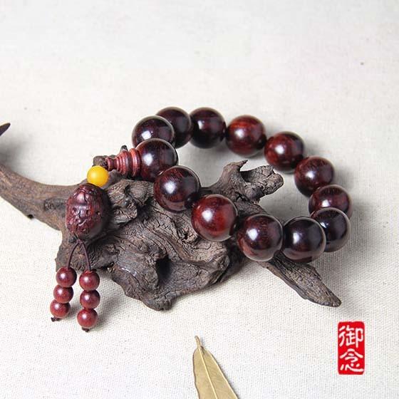 御念招财貔貅紫檀手串