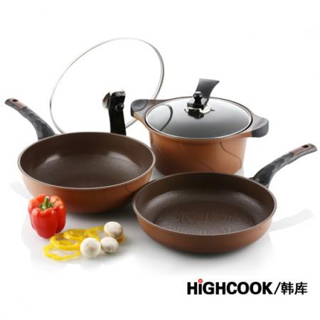 HIGHCOOK韩库3D系列炒煎汤套锅