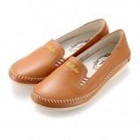 [Jellyko]舒适款乐福鞋 咖啡色(送手拎包)