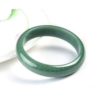 顺然天然A货满绿翡翠手镯