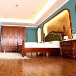 帕格尼轻奢简美套房卧室组合3(木床+四门衣柜+床垫+床头柜*2)