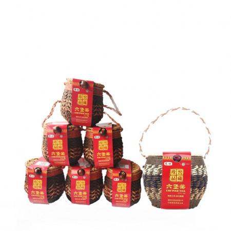 [中粮]中茶广西黑茶六堡茶箩装 温性茶 1+6套组实惠装