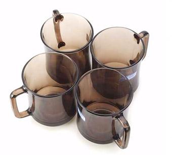 DURALEX多莱斯法国进口钢化玻璃马克杯4只装(4018C)