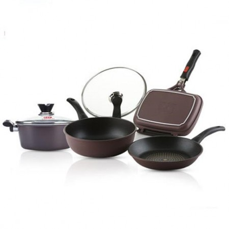 [赛普瑞斯]双面煎不粘锅具4个(单个约150元)