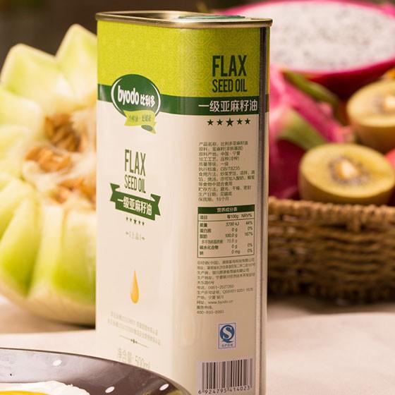 [比利多]冷榨亚麻籽油500ml*6桶(单件约40元)